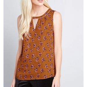 NEW Floral Sleeveless Top ModCloth Envisioned